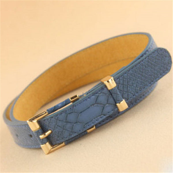 Women belts Cow Faux Leather Pin Buckle Vintage Designer Belts top quality Jeans for Women free shipping Au9D