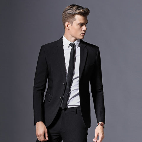Mens Suit Formal Business Blazer Men Groom Three Pieces Slim Fit Party Jacket Clothing Single Button Wedding Dress