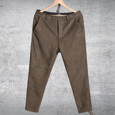 spring new casual men's trousers pants Slim fit men's woolen casual pants mens slim dress pants patalones hombres