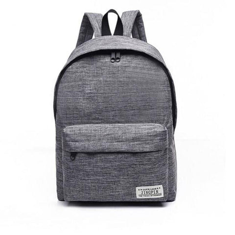 Canvas Men Women Backpacks Large School Bags For Teenager Boy Girls Travel Laptop Backpack Grey
