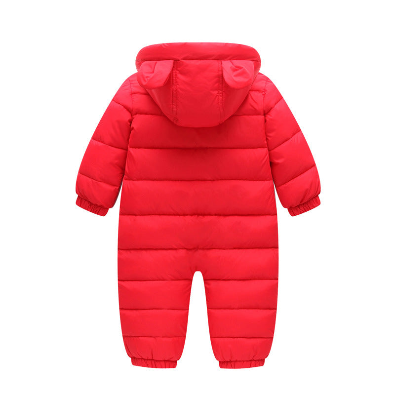 Baby Rompers Winter Thick Warm Baby boy Clothing Long Sleeve Hooded Jumpsuit Kids Clothes Newborn Baby Girls Outwear