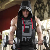 Mens summer sleeveless Hoodies fitness fashion Casual jacket Hooded Sweatshirts Bodybuilding Brand sportswear vest clothing