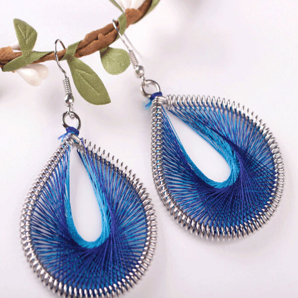 Bohemian Style Wind Handmade Earrings Individuality Earrings A