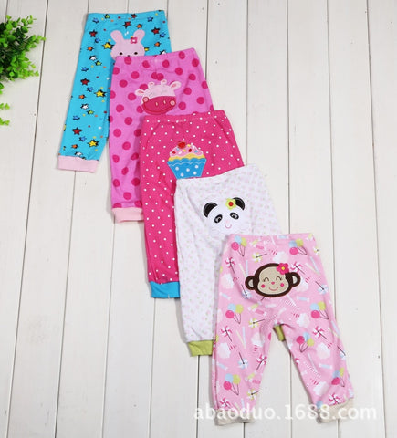 Summer 5PCS/LOT Baby Pants Fashion Cotton Infant Pants cute Cartoon Newborn Baby Boy Pants Baby Girl Clothing 0-24M Baby