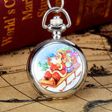 Christmas Vintage Style Pocket Chain Necklace Watch Christmas Gift Pocket Watch