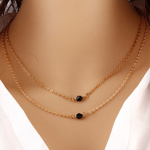 Women Multilayer Irregular Pendant Chain Statement Necklace