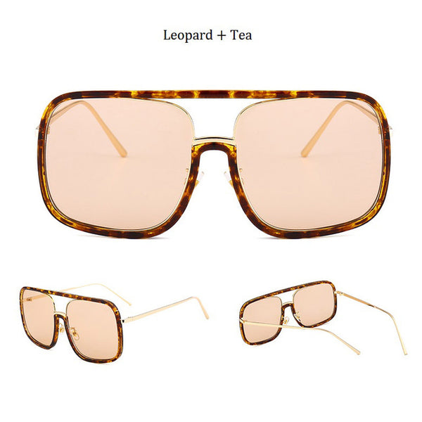 Luxury Women Sunglasses Fashion Square Vintage Retro Brand Designer Oversized Female Goggles Sun Glasses Men Tide Oculos