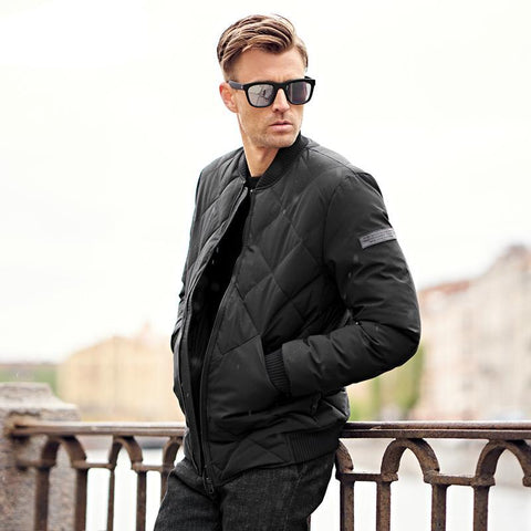 top Brand new parka Cotton Padded Jacket coat Men stand collar Windproof black Thick Quilted fashion Coat Men MF0274
