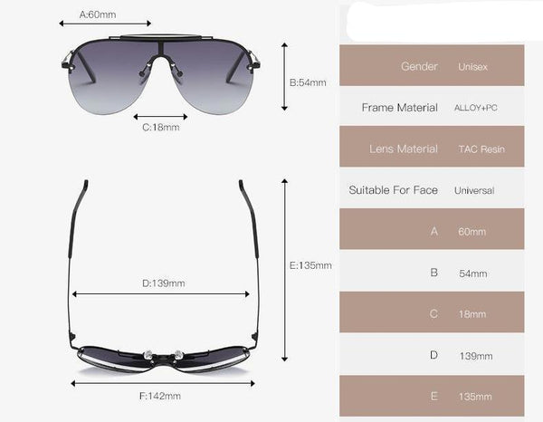 Polarized Sunglasses Men Alloy Frame Brand Designer Steampunk Unisex Sun Glasses UV400 AE0557