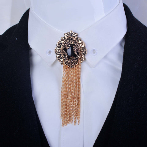 New Free Shipping Men's male female Headdress Medal women couple tassel brooch tie pattern retro baroque palace