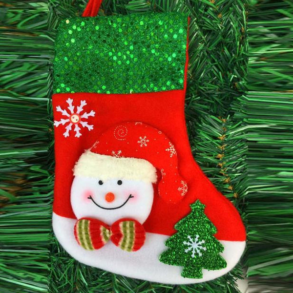 Christmas Stockings Socks Santa Claus Candy Gift Bag Xmas Hanging Décor