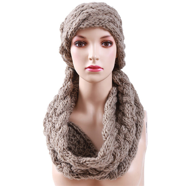 Winter Cable Ring Scarf Women Knitting Infinity Scarves Knitted Warm Neck Circle Scarf bufandas cuellos Hot Sale 988544