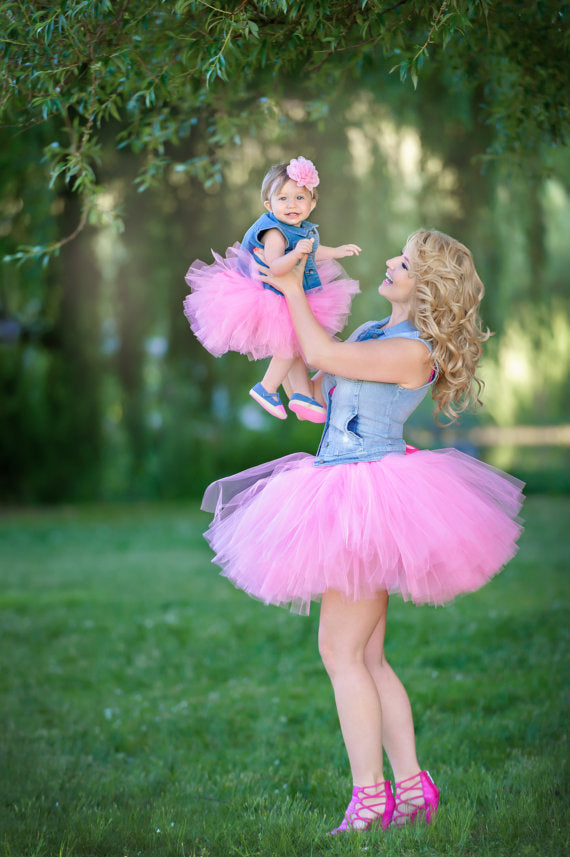 0327726488 Mommy and Me Matching Tutu Skirts Set Pink Baby Girls Tutu Skirt Family  Matching Outfits Adult ...