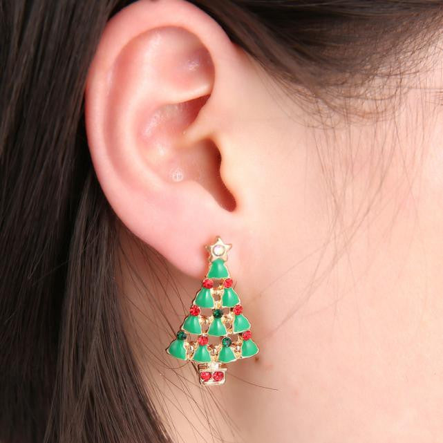 Ms Christmas Gifts Fashion The Diamond Stud Earrings