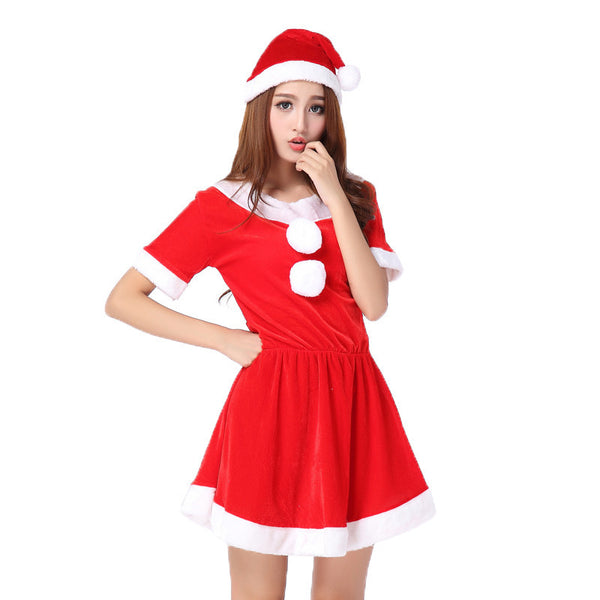 Women Girls Xmas Outfit Fancy Party Sexy Masquerade Mini Christmas Skirt