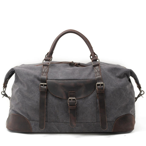 Canvas Crazy Horse Leather Men Travel Bags Carry On Luggage Bags Men Duffel Bags Travel Tote Large Weekend Bag Overnight