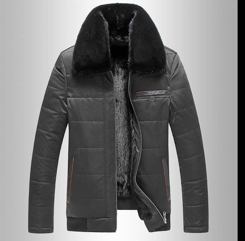 Factory direct delivery 100% natural fur sheepskin coat Genuine Leather coat cold male Men 2017 winter new thicker mink fur Hood