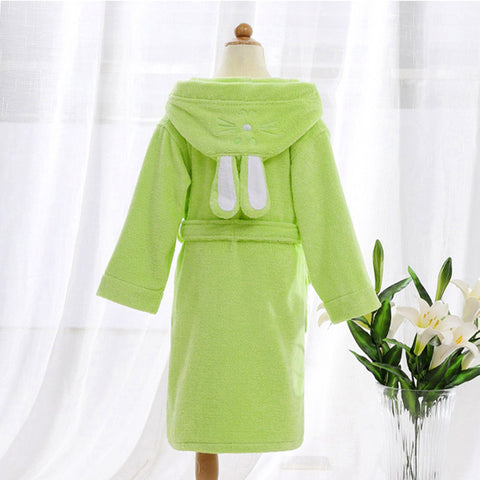 Children Hooded Bathrobe Towel Kids Boys Girls Cotton Lovely Robes Dressing Gown Kids Homewear Sleepwear with Belts