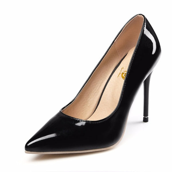 Original Intention New Sexy Women Pumps Fashion Pointed Toe Thin High Heel Pumps Stylish 7 Colors Shoes Woman Plus US Size 4-15