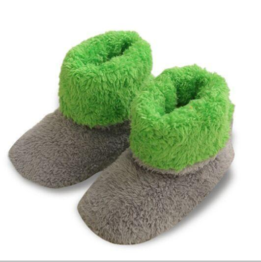 New Patchwork Soft Plush Warm Home Slippers Sewing Handmade Floor Slippers Women Coral Fleece Indoor Shoes Women 3 Colros