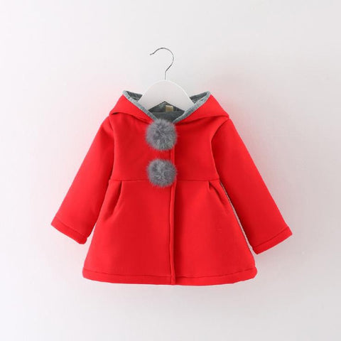 Newborn Girls Coat baby Autumn Spring Jacket Kids Infant rabbit long Ear Hoodies Cotton bebe Outerwear Children Clothes for Girl