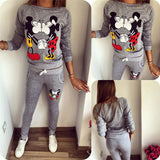 Selling Women Casual Sportswear Lovely Printed Hoodies long-sleeved Suit Kawayi Tenue Femme Sportswear Sets