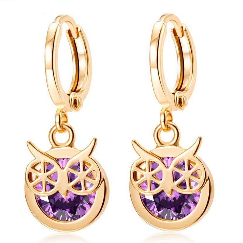 Star love earrings earrings Alloy Rhinestone Women Dangle Earring Star Earrings Hoops