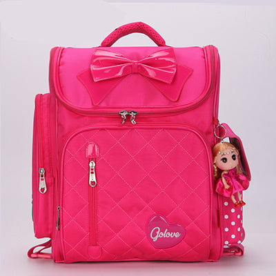 Cute Orthopedic backpack Children School Backpacks Draw Bar School Bag Pink Zipper Backpack For Kids Girls Mochila Infantilt