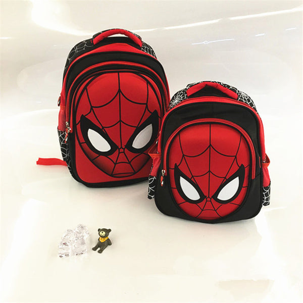 New 3D stereo Spider man Cute Backpack  Children's  New School Bag Boys Backpack Kids Children Cartoon School Bags Backpack