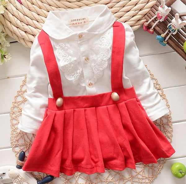 new autumn winter lace patchwork girls dress faux 2pcs kids clothes baby trap dress cute long sleeve baby girl dress