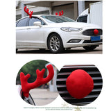 Christmas Car Decoration 1 Set Big Red Christmas Elk Big Nose Automobile Car Ornaments Christmas New Year Decoration