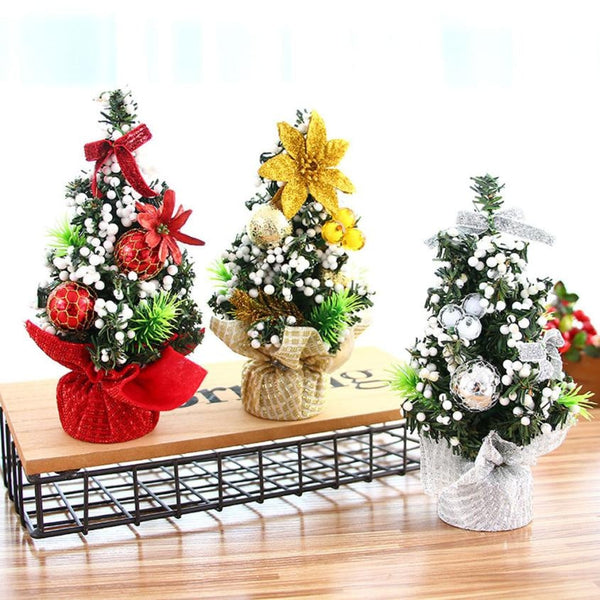 Merry Christmas Tree New Year Bedroom Desk Decoration Office Home Children Gift 3 Colors Small Pine Tree Home Decor #BF