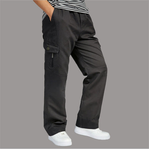 Oversize Military Style Cargo Pants Full Length Black Cotton Cargo Pants Pantalon Home Autumn And Winter Trouser A2568