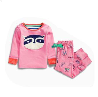 Hello Enjoy Kids pajamas for chirstmas girls autumn Animal stripes jacket + pants Children Pajamas Sets family clothing set 3-8Y