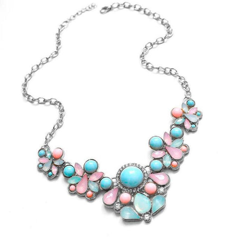 Sweet Elegant Women Bohemian Bib Choker Necklace Pendant Necklaces