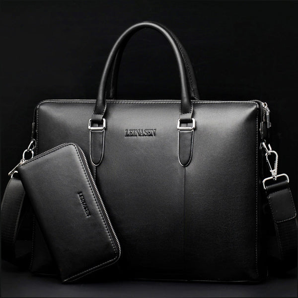 Men bag men's handbag Men Briefcase male handbag casual luxury Designer Notebook business bags vintage Large capacity briefcas