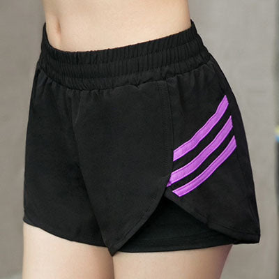 Women Slash Printed Casual Active Shorts Sexy Fake Two Elastic Fitness Short Pant Quick Dry Breathable Exercise Shorts