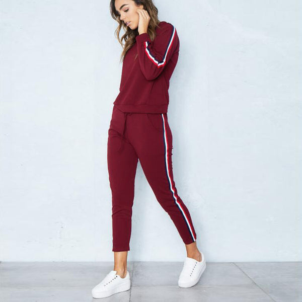Fashion Women Sets Pullover Female Autumn Track Suit Tops Females Ankle-Length Pants Trendy Womens Loose Casual Lady Student
