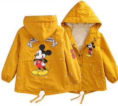9065d1f61 New Minnie Baby Boys Girls Hooded Jacket Coat Winter Kids Boy ...