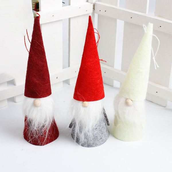 3Pcs Cute High Hat Santa Claus Christmas Tree Hanging For Home Decor Supplie Christmas Decorations For Home Arbol De Navidad