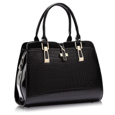 women leather handbags handbag leather women bag patent handbag high quality
