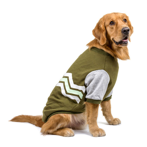Dog Hoodies for Small Medium Large Dogs Pet Clothes Autumn/Winter Fashion Wave Design Pet Dog Coat Sweatshirt S-5XL