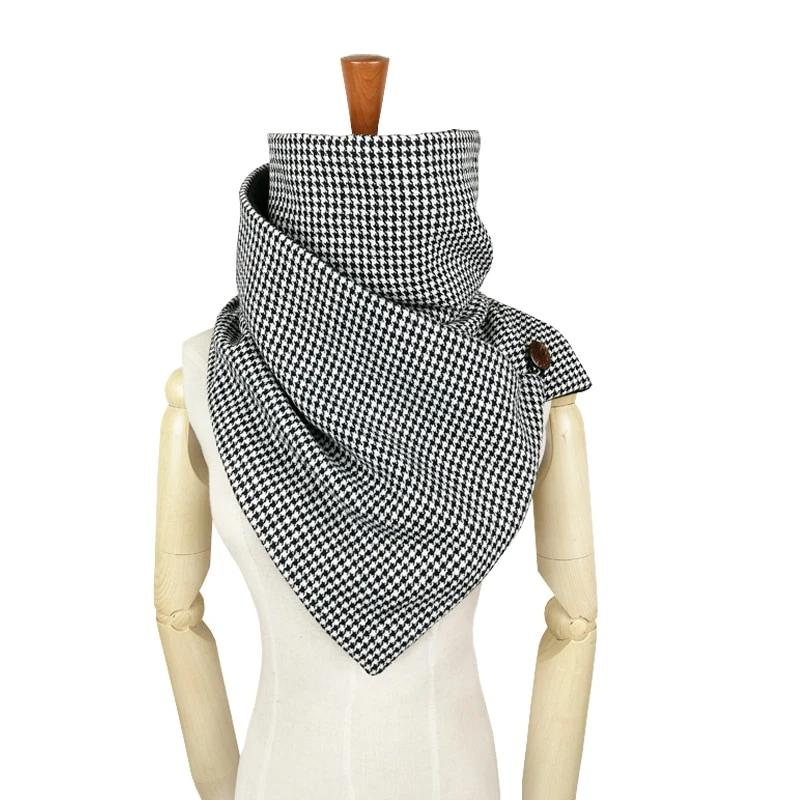 winter ring scarf women Novelty Houndstooth plaid Keep warm infinity scarf men tube luxury brand shawls and scarves