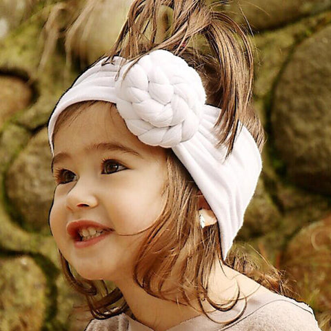 Baby Girls Spiral Knot Headband Cotton Children Girls Elastic Hair bands Turban Bows for Girl Headband Hair Accessories