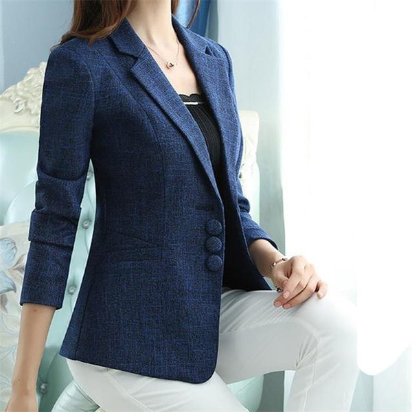 The New high quality Autumn Spring Women's Blazer Elegant fashion Lady Blazers Coat Suits Female Big S-5XL code Jacket Suit