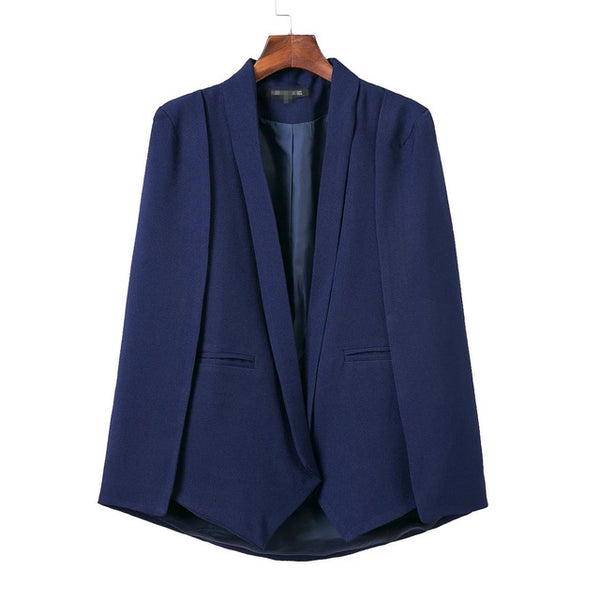 blazer women outwears spring red navy blue white black new women's blazer cape jacket