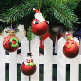 Christmas Tree Decoration Cute Santa Claus Snowman Ornament Shape Xmas Tree Baubles Hanging Festival Gift #BF