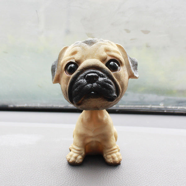 Creative Resin Big Size chihuahua pug Bobblehead Dog Figurines Cute Puppy Figurines&Miniatures Ornaments Crafts Car Decoration