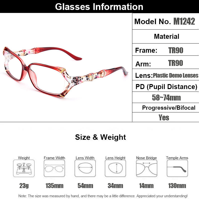 New Arrival Gmei Optical Colorful Urltra-Light TR90 Women Full Rim Optical Eyeglasses Frames Female Plastic Myopia Eyewear M1242