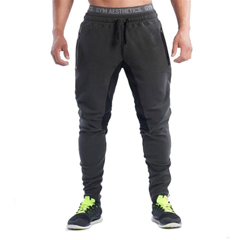 Detector Mens Running Fitness Pants Elastic Drawstring Trousers Sportwear Men Outdoor Sport Clothing